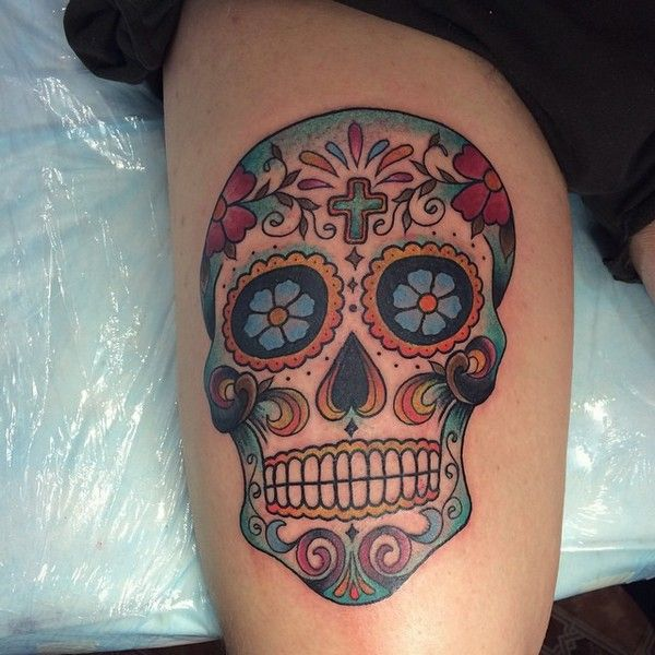 72 Beautiful Sugar Skull Tattoos With Images Candy Skull Tattoo Sugar Skull Tattoos Skull Tattoos