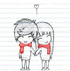 Casal Romantico Desenho Com Frases Pesquisa Google Recados De