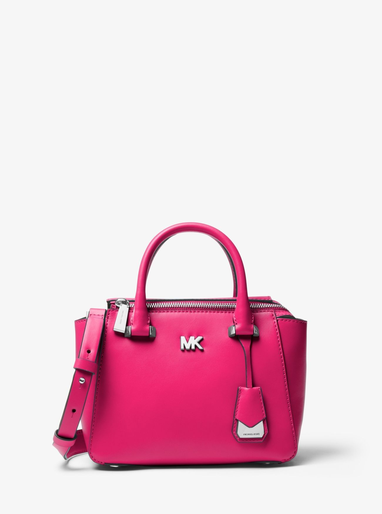 Online Michael Kors Ultra Pink Nolita Mini Leather Satchel Outlet Sale 5871bf772f