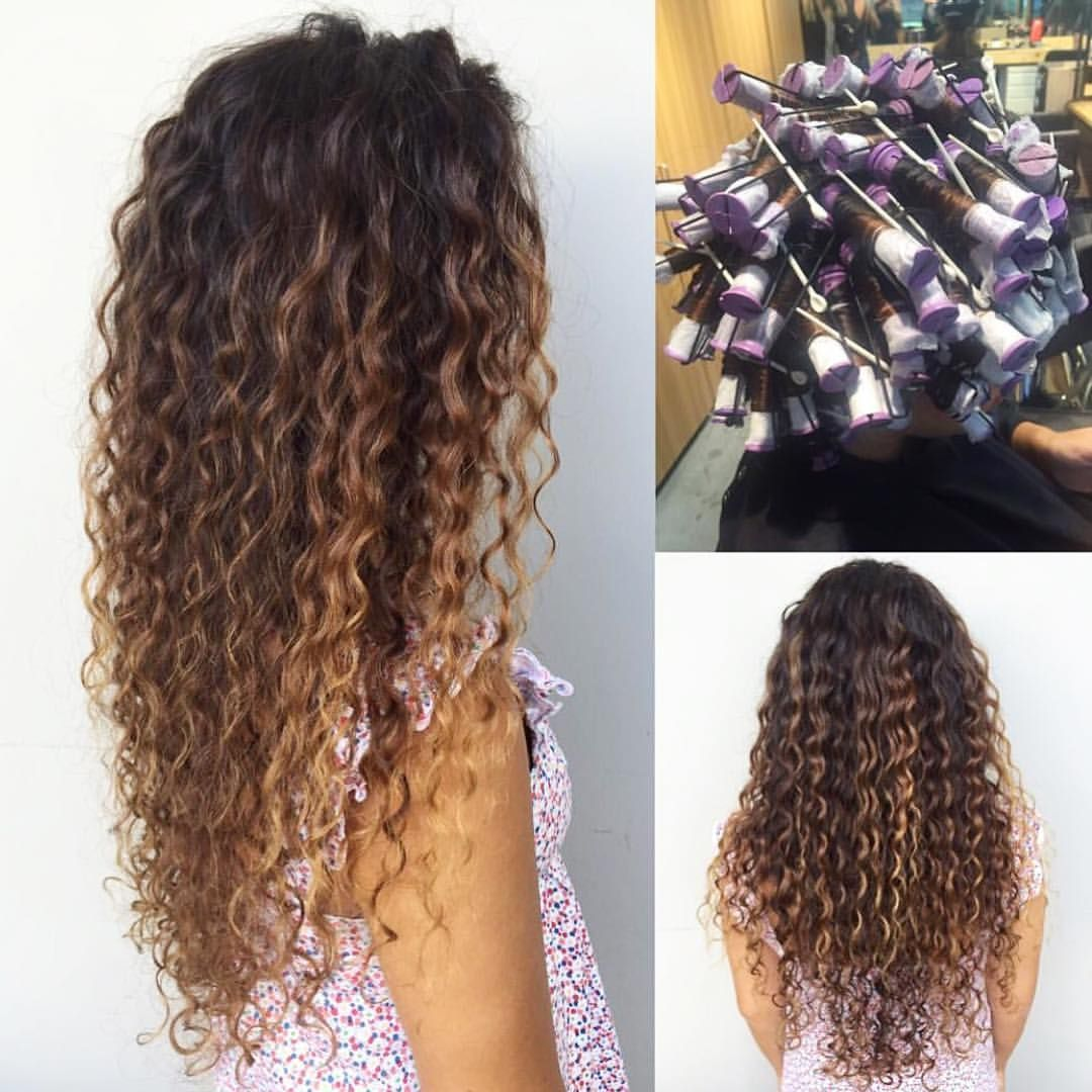 Curly Hair Semi Permanent Color