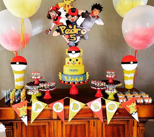 fiestas ideas para decorar tu mesa de dulces de pokmon go
