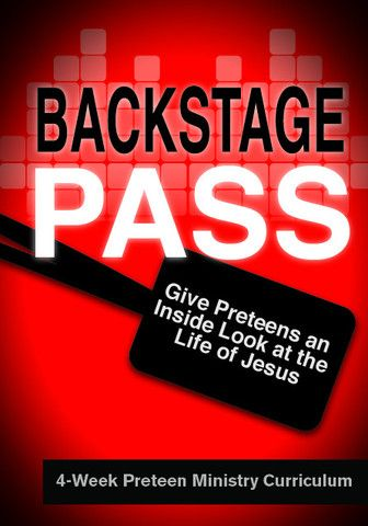 Give Preteens and inside look at the life of Jesus http://www.childrens-ministry-deals.com/products/backstage-pass-preteen-ministry-curriculum