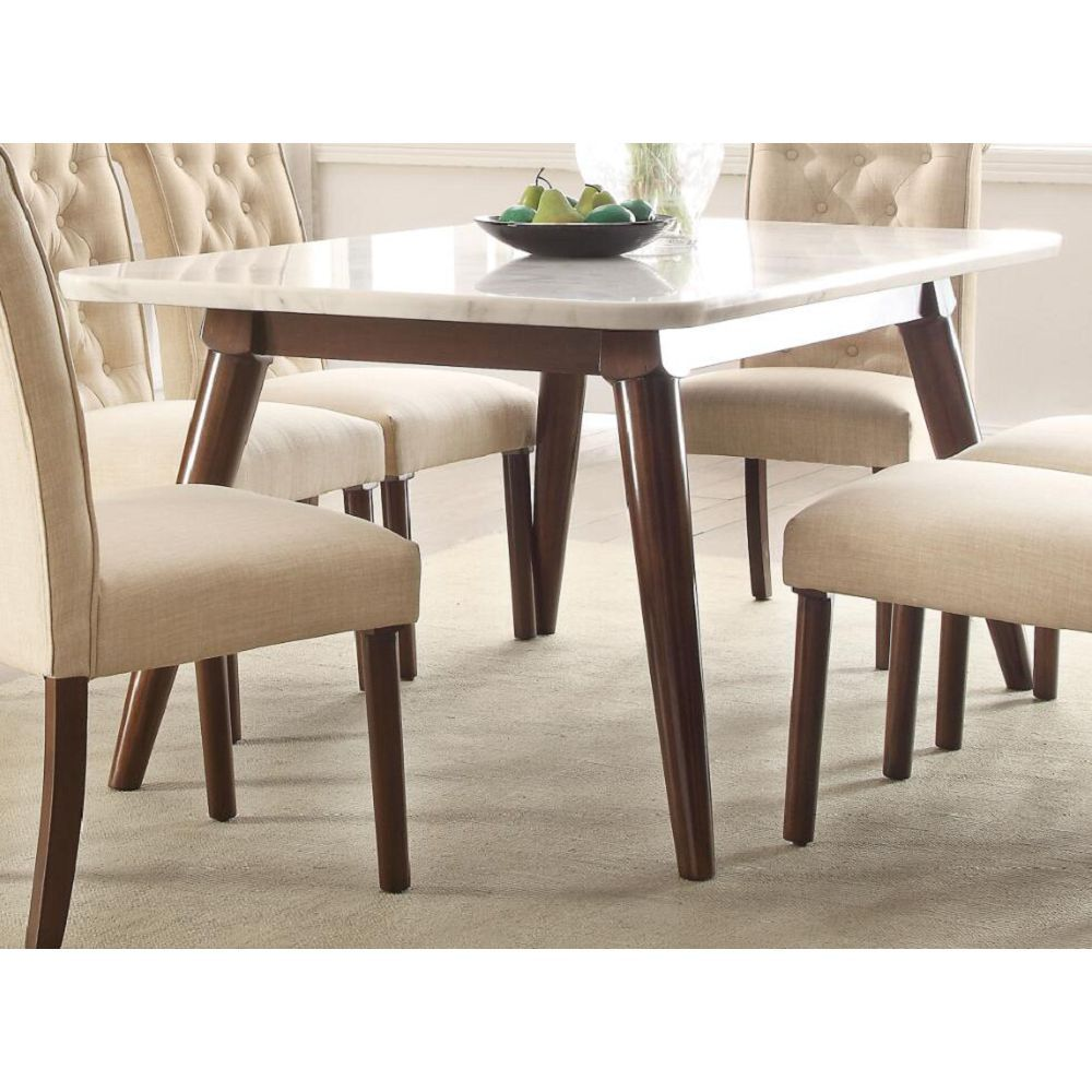 Gasha Dining Table White Marble Amp Walnut Small Rectangle Dining Table Dining Table In Kitchen Square Dining Tables