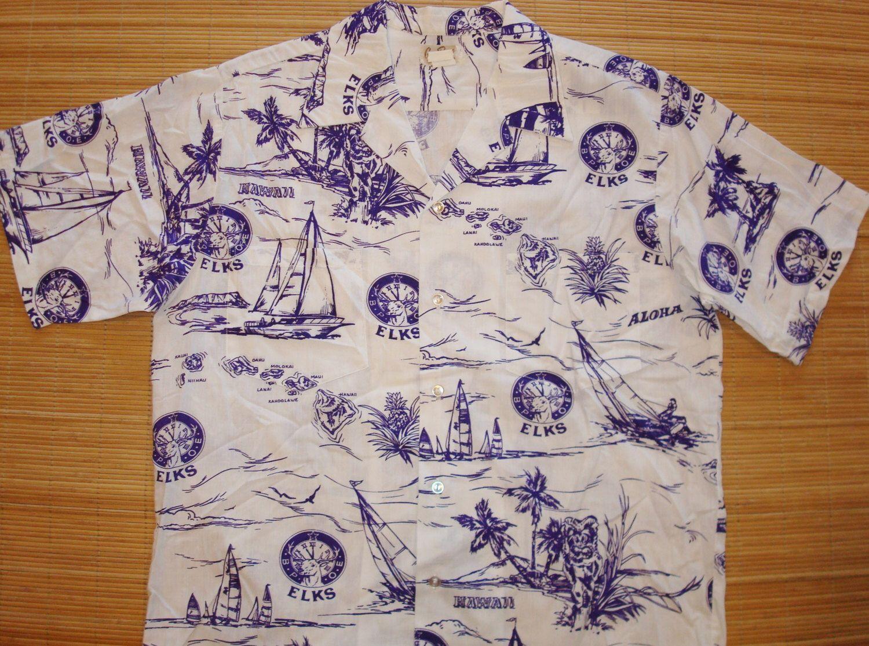 Premium vintage 1967 big amp tall men s big amp tall premium tank - Mens Vintage 80s Elks Club Hawaii Bpoe Hawaiian Aloha Shirt L The Hana Shirt Co By Thehanashirtco On Etsy Https Www Etsy Com Listing 25715569