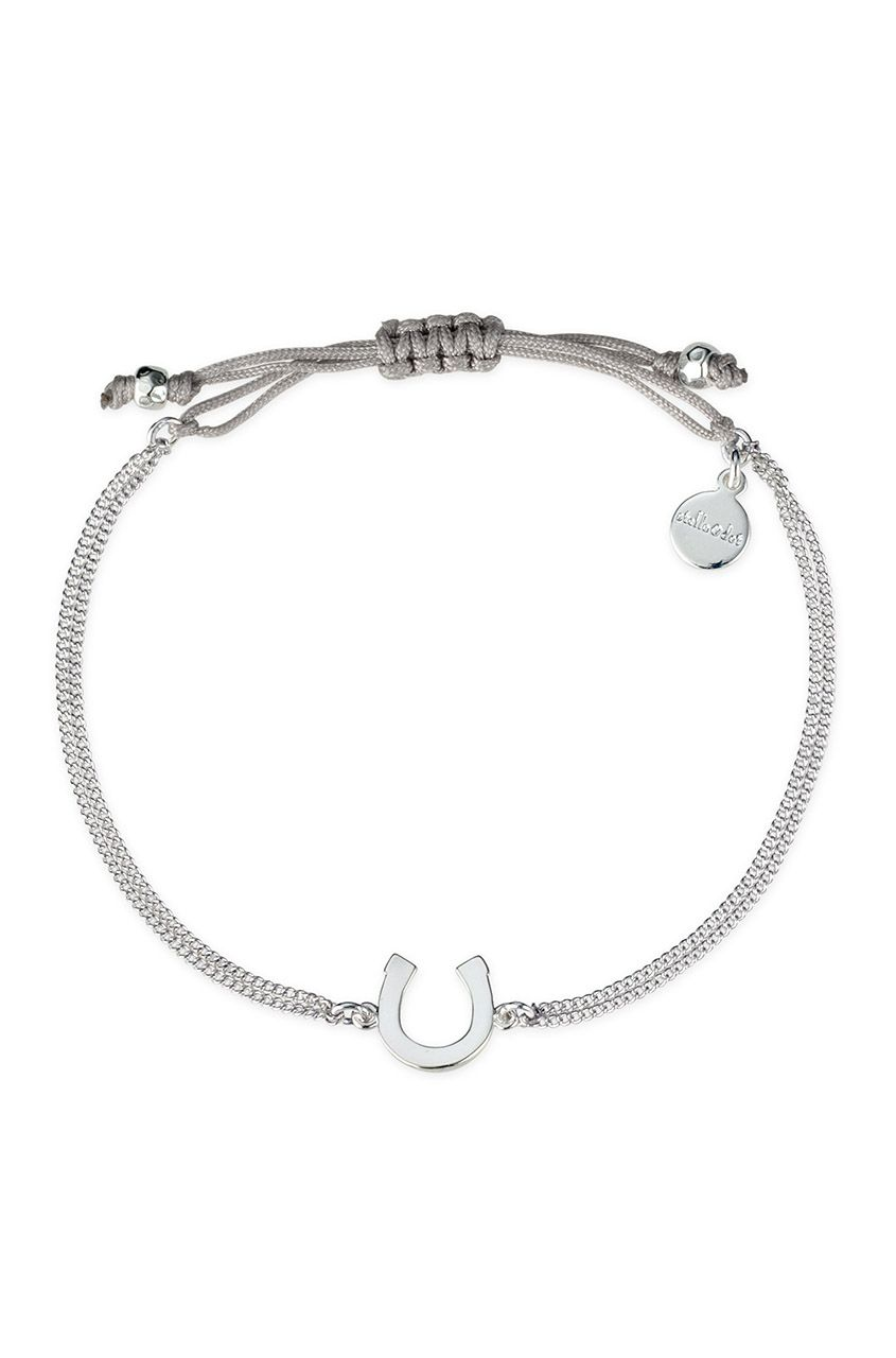 Silver Cord Horseshoe Wishing Bracelet Stella Dot Jewelry