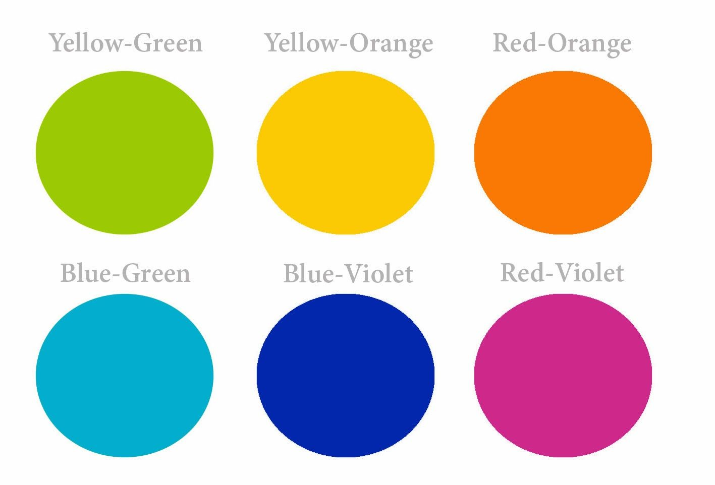 These Are The Intermediate Colors Also Known As The