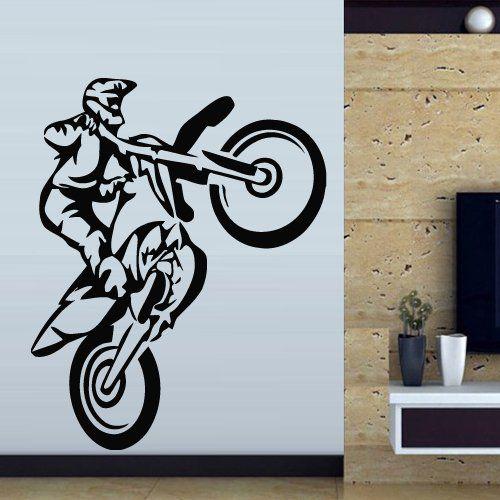Wall Decal Art Decor Decals Sticker Bedroom Motocross Mural Tribal Dirt Bike Moto Motorcycle Jump Bike Gp M830 Decal Wall Art Wall Stickers Murals Wall Decals