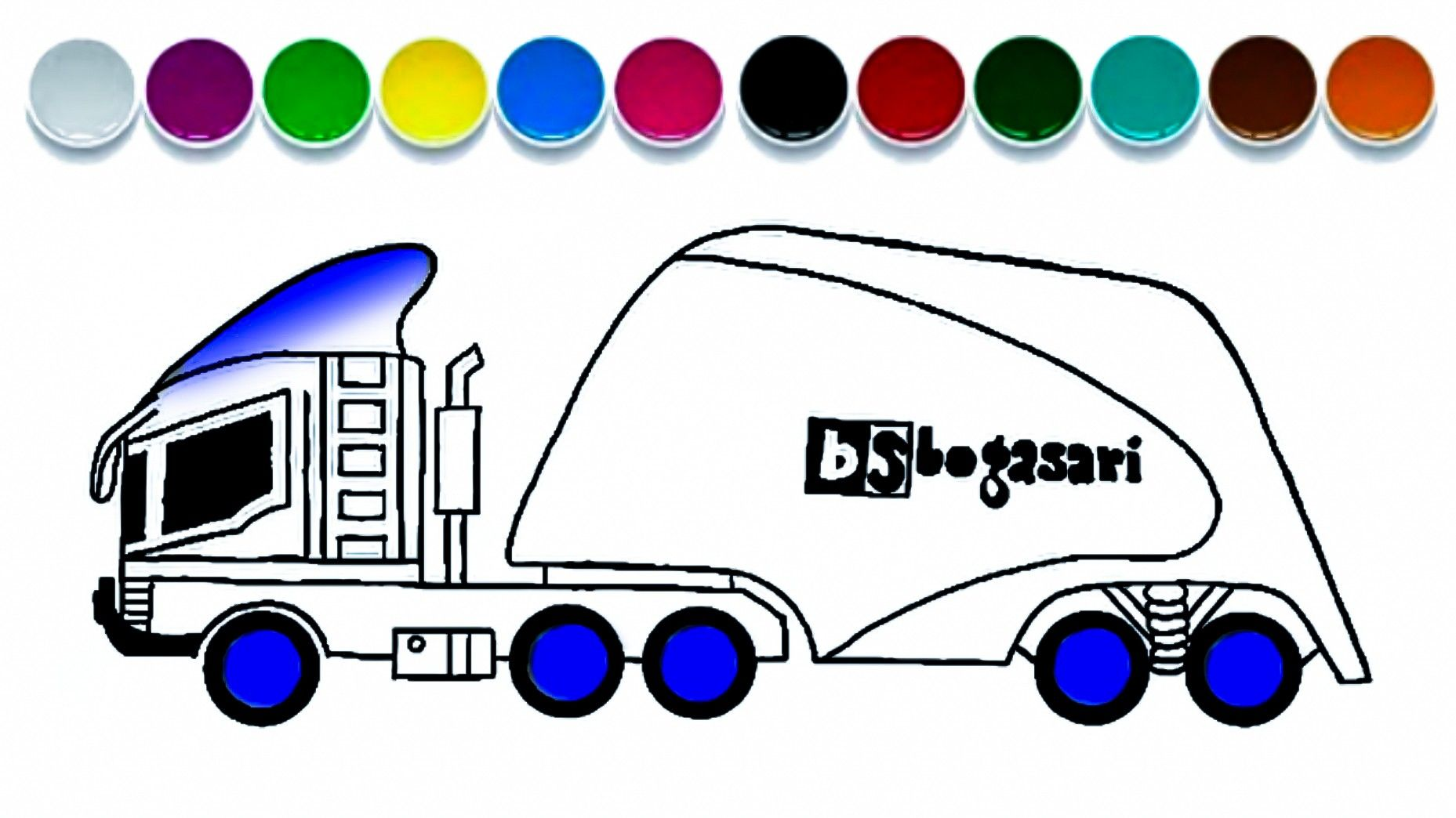 Menggambar Mobil Truk Tangki Tepung Bogasari Cara Menggambar Truk Mobil