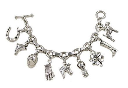 The Ultimate Rider S Sterling Silver Charm Bracelet