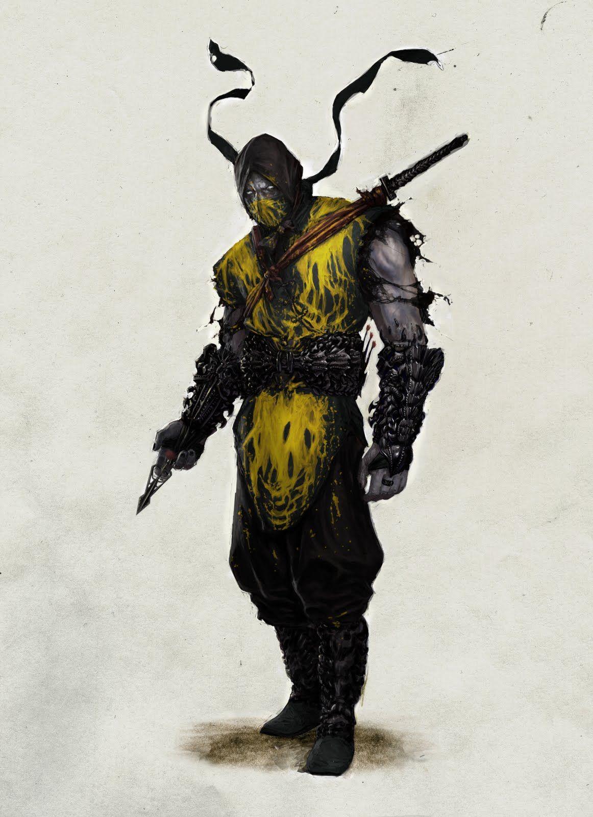 Vincent Proce Art Blog Scorpion Mortal Kombat Mortal Kombat Art