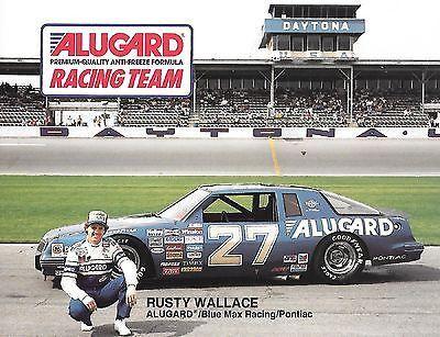 NASCAR 1986 Rusty Wallace #27 Alugard Anti-Freeze Postcard