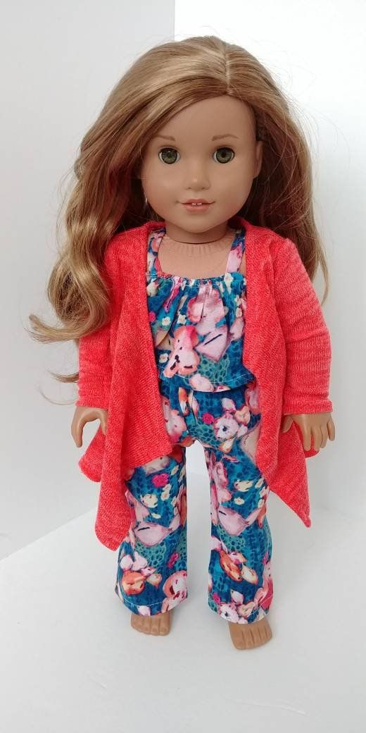 18 inch doll clothing. Fits like American girl doll clothes. 18 inch doll clothes. Cardigan sweater #americandolls
