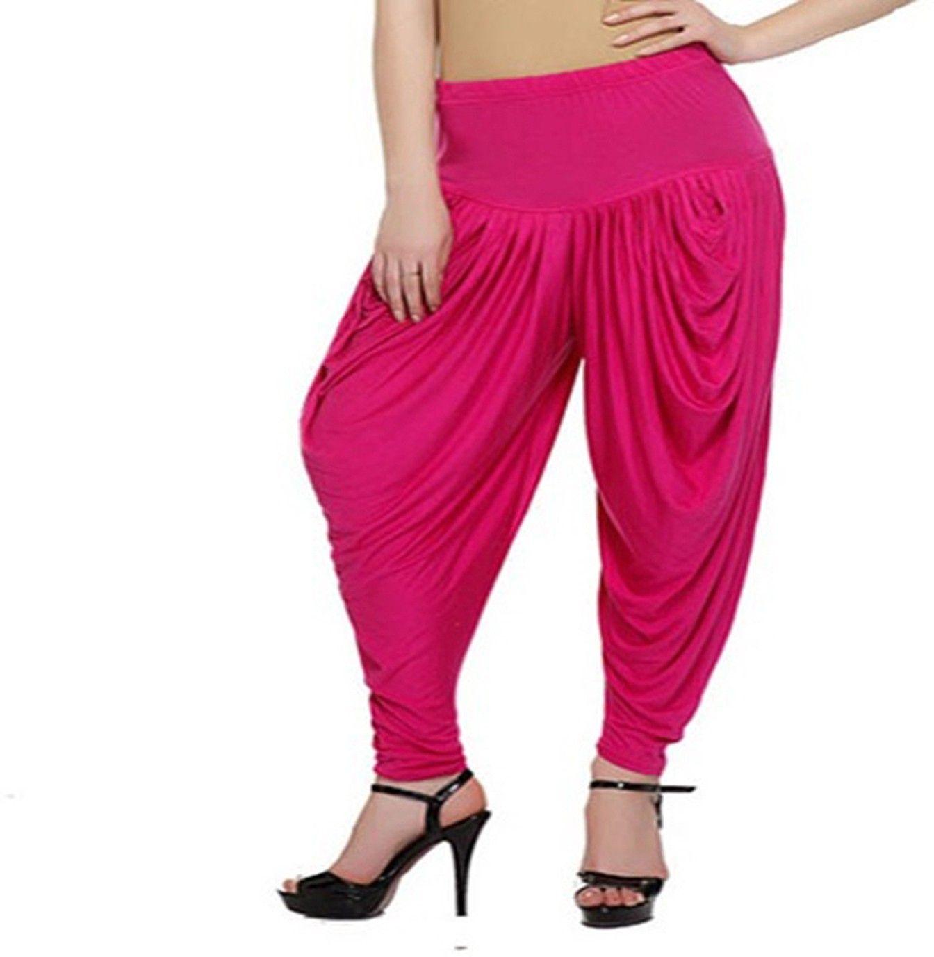 9b18b94ffc Awesome Solid Viscose, Lycra Women's Harem Pants Price: Rs. 349 Aweome  Magenta Viscose Lycra Dhoti Pants