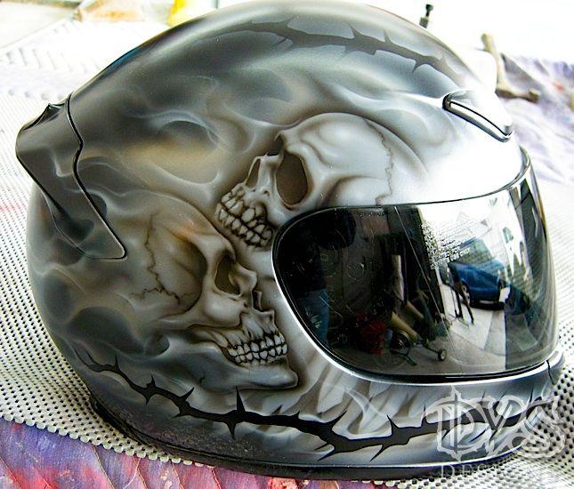 custom painted Motorcycle Helmets   Custom painted helmets make great gifts, too!