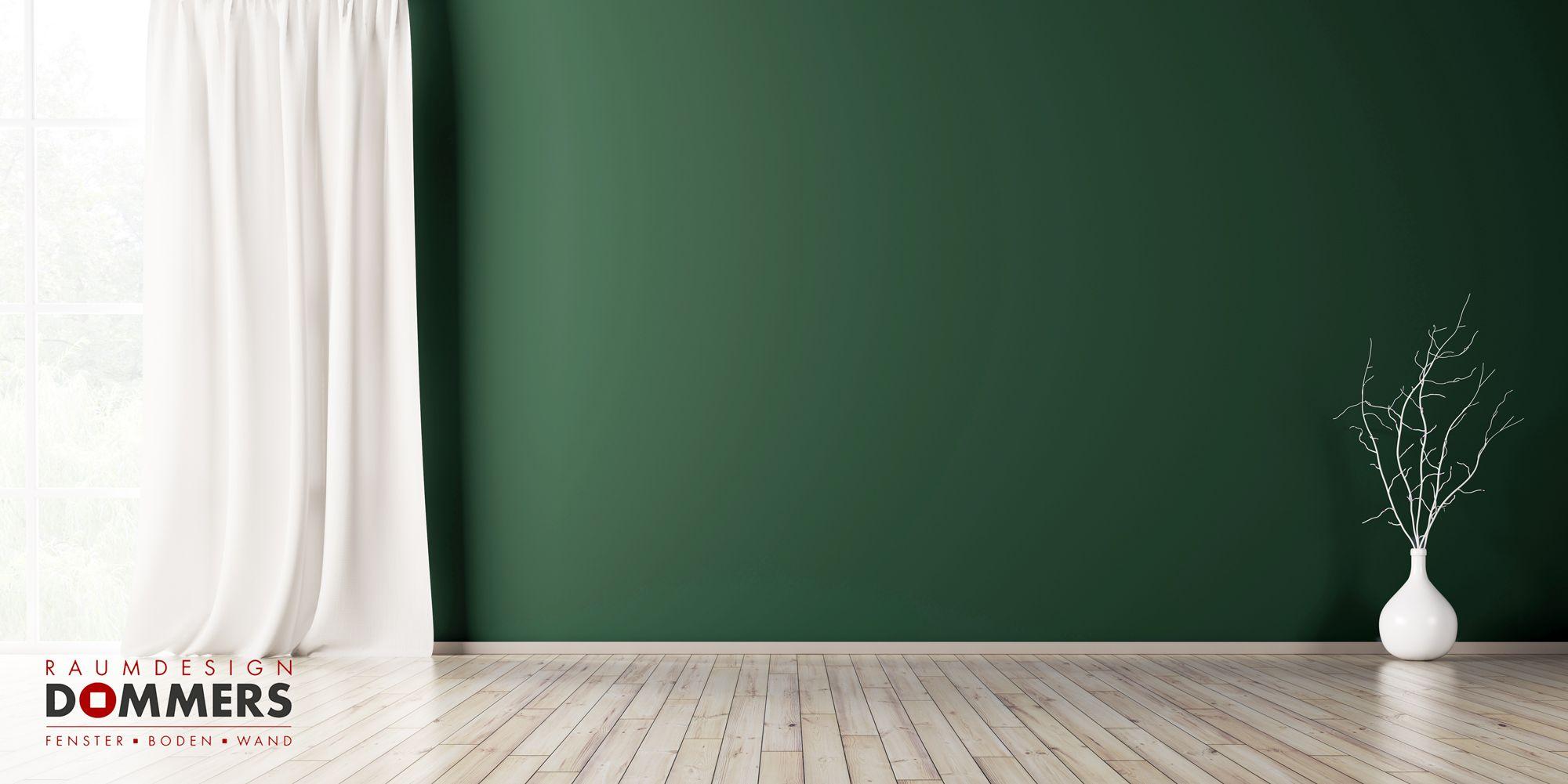 Tannengrun Fur Die Farbliche Wandgestaltung Raumdesign Dommers In Duisburg Raumdesign Haus Deko Wandgestaltung