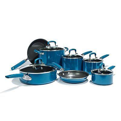 Bobby Flay 12 Pc Nonstick Aluminum Cookware Set Cookware Set Pots And Pans Sets Cookware