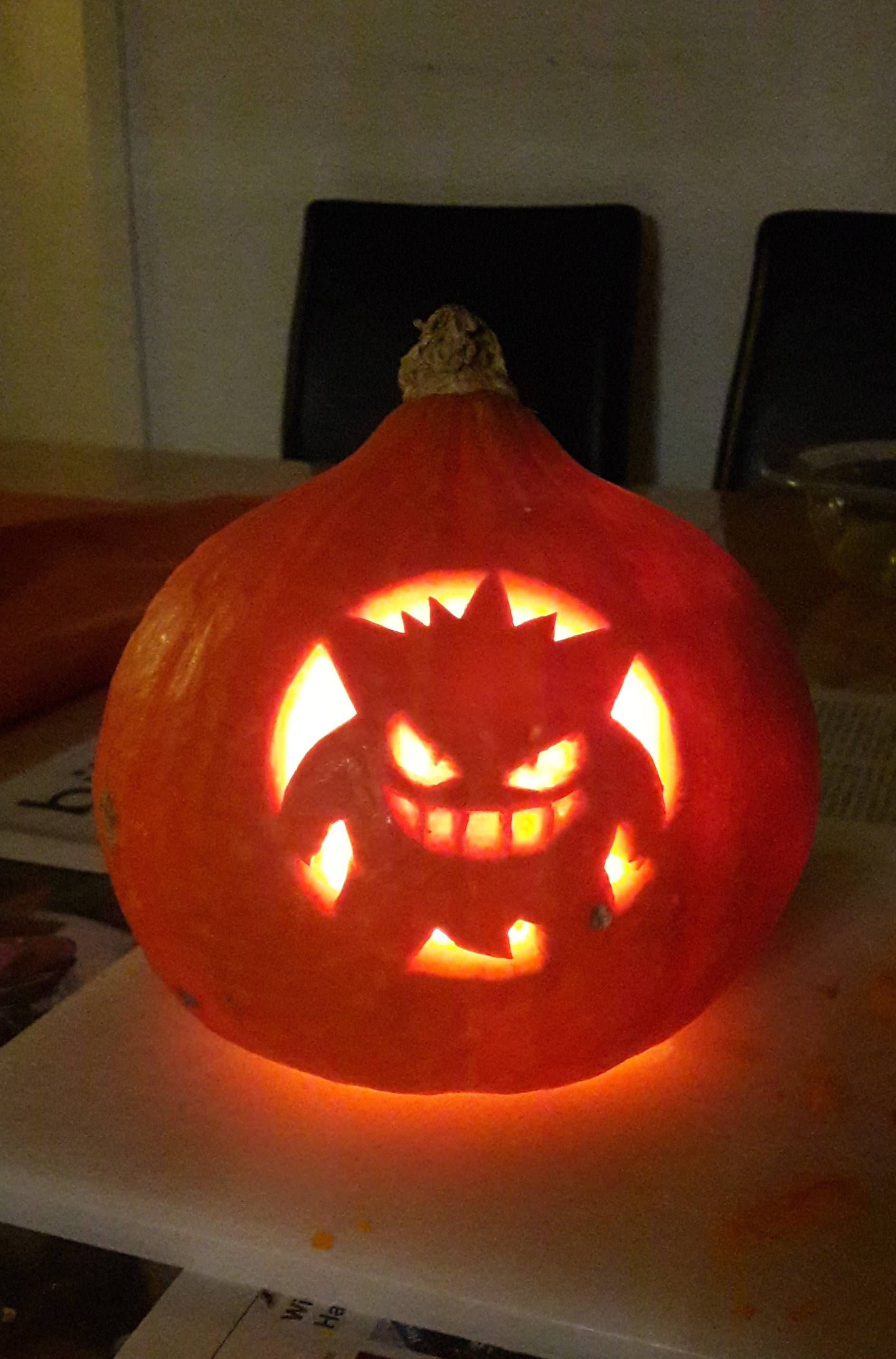 carved my first gengar today pokemon pinterest pokemon