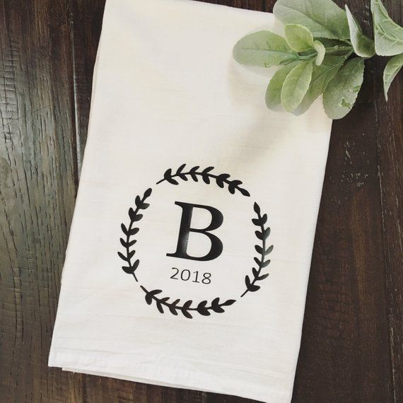 Tea Towel Monogrammed Tea Towel Flour Sack Towels
