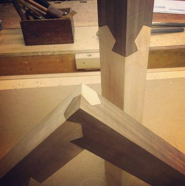 Japanese Woodworking Madness A Three Way Wood Joint Core77 Make