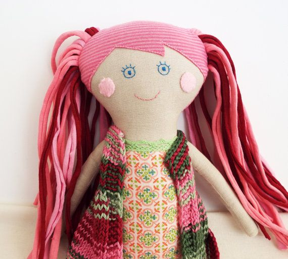 Mom and Baby Doll for Play Pink Rag DollHandmade Stuffed