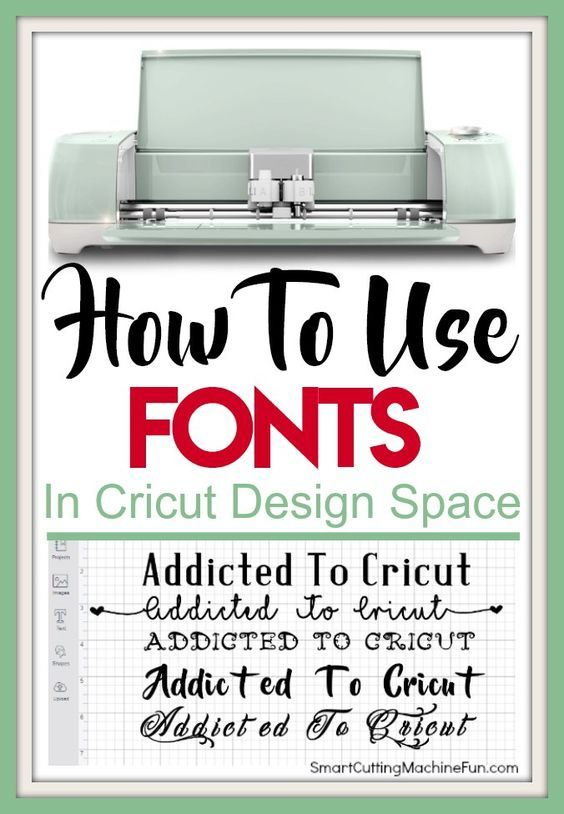 How to Use Fonts in Cricut Design Space