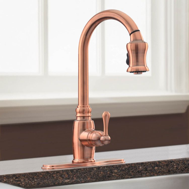 Copper Kitchen Faucet Spray By Faucets Danze D454557ac With