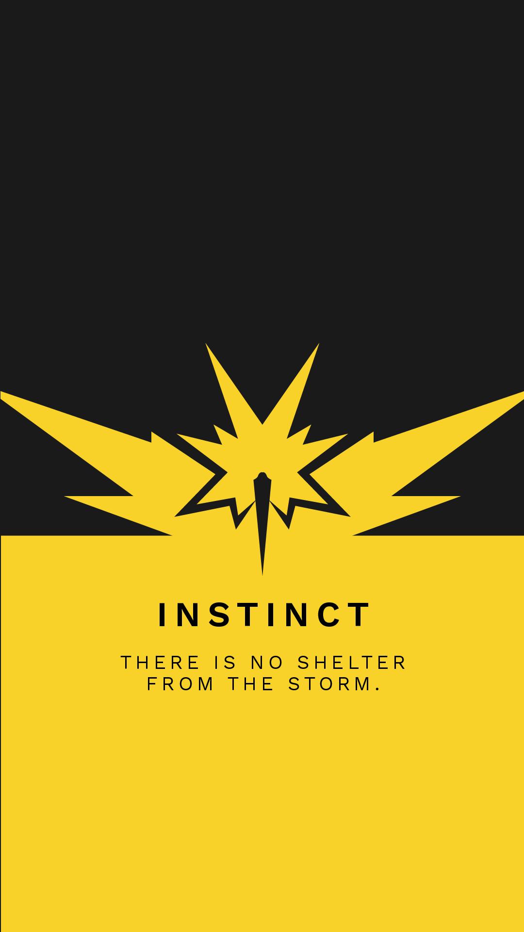 Team Instinct Pin Up iphone case