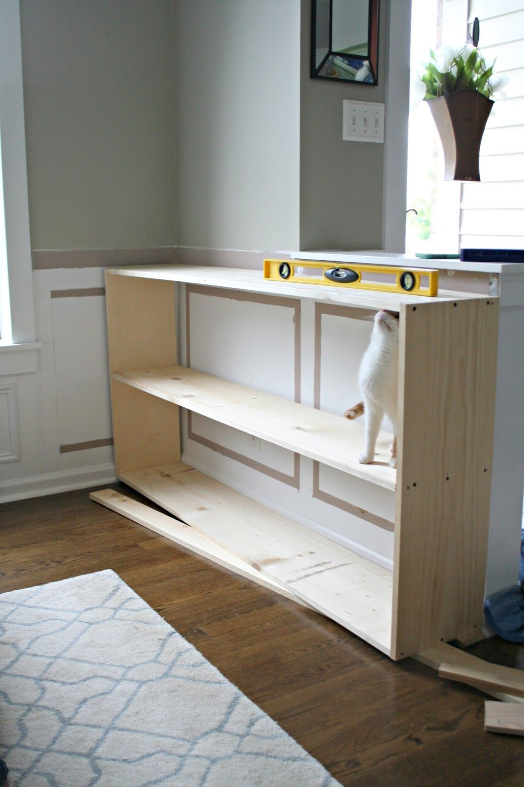 Half Wall Bookcase Do It Yourself Projects Half Walls