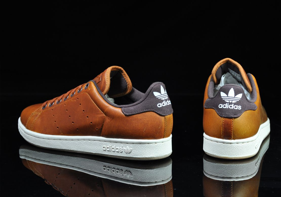 Adidas Stan Smith 2 Brown Leather Sneakers Men Fashion Sneakers Fashion Sneakers Men