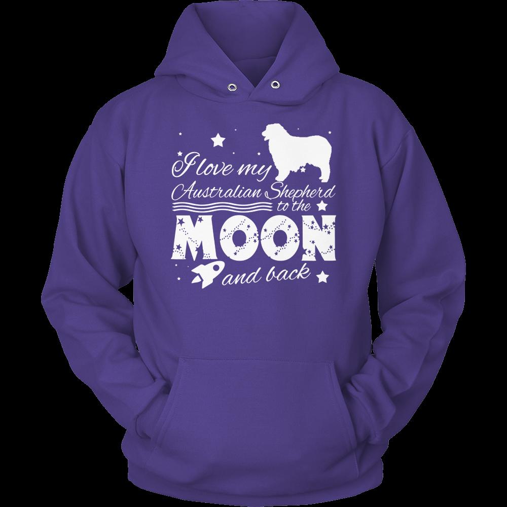 Australian Shepherd Moon And Back Hoodie