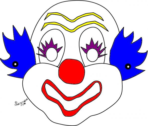 R alisez des masques de clown pour d guiser vos enfants - Photo de clown a imprimer ...