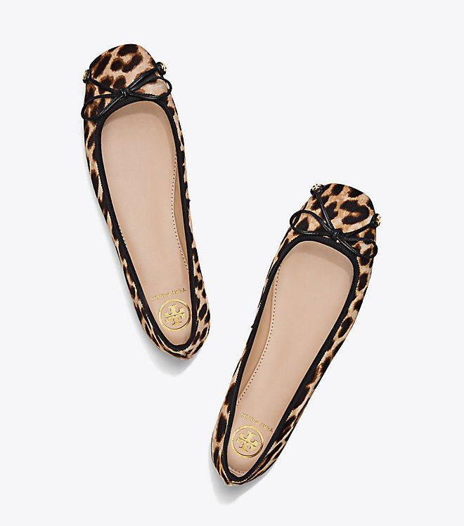 dfda01592 Tory Burch Laila Calf Hair Driver Ballet Flat : Size: 6.5 The Laila  combines the classic lines of a ballet flat with the comfort and traction  of a driving ...