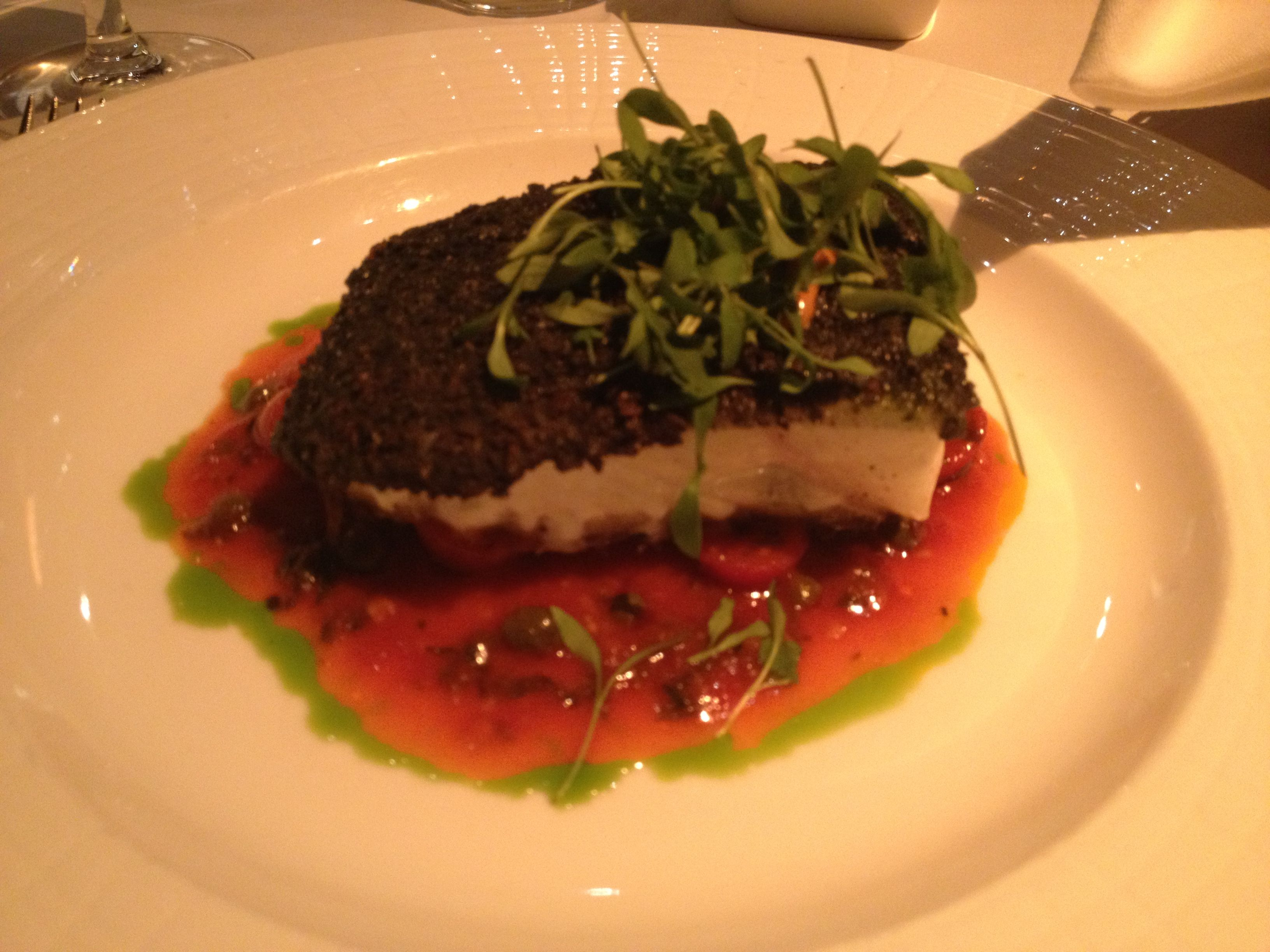 Blue Corn Crusted Halibut...Mesa Grill Las Vegas...Bobby