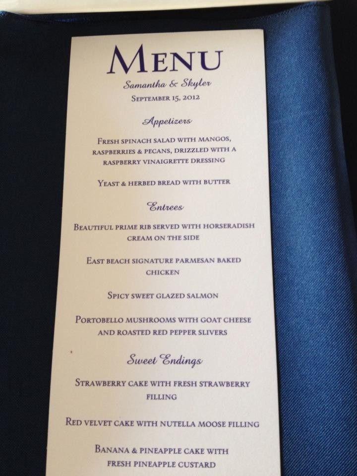 Vistaprint Rack Cards For Wedding Dinner Menu