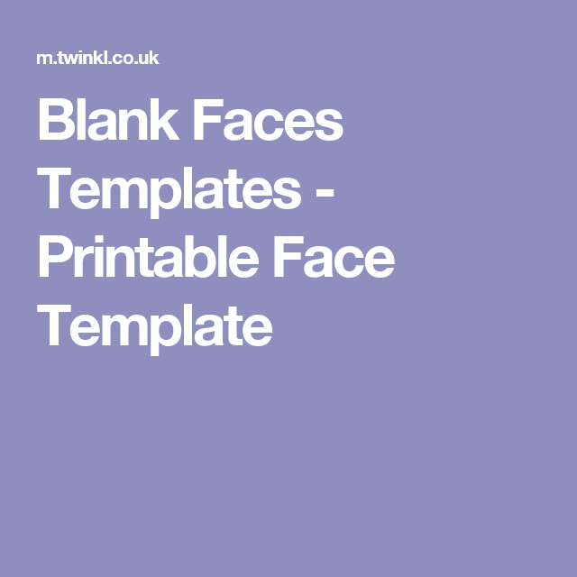 Printable Face Template (With