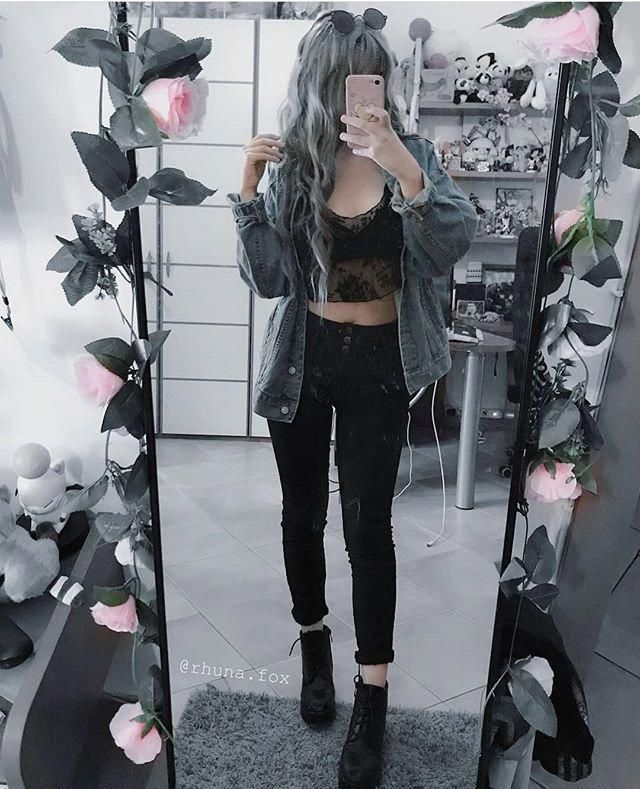 Edgy chic outfits #egirlaestheticoutfit e girl aesthetic out - #aesthetic #Chic #Edgy #egirlaestheti -
