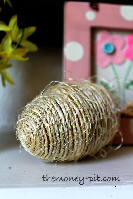 Twine Wrapped Plastic Egg A Nice Neutral Easter Accent Hometalk