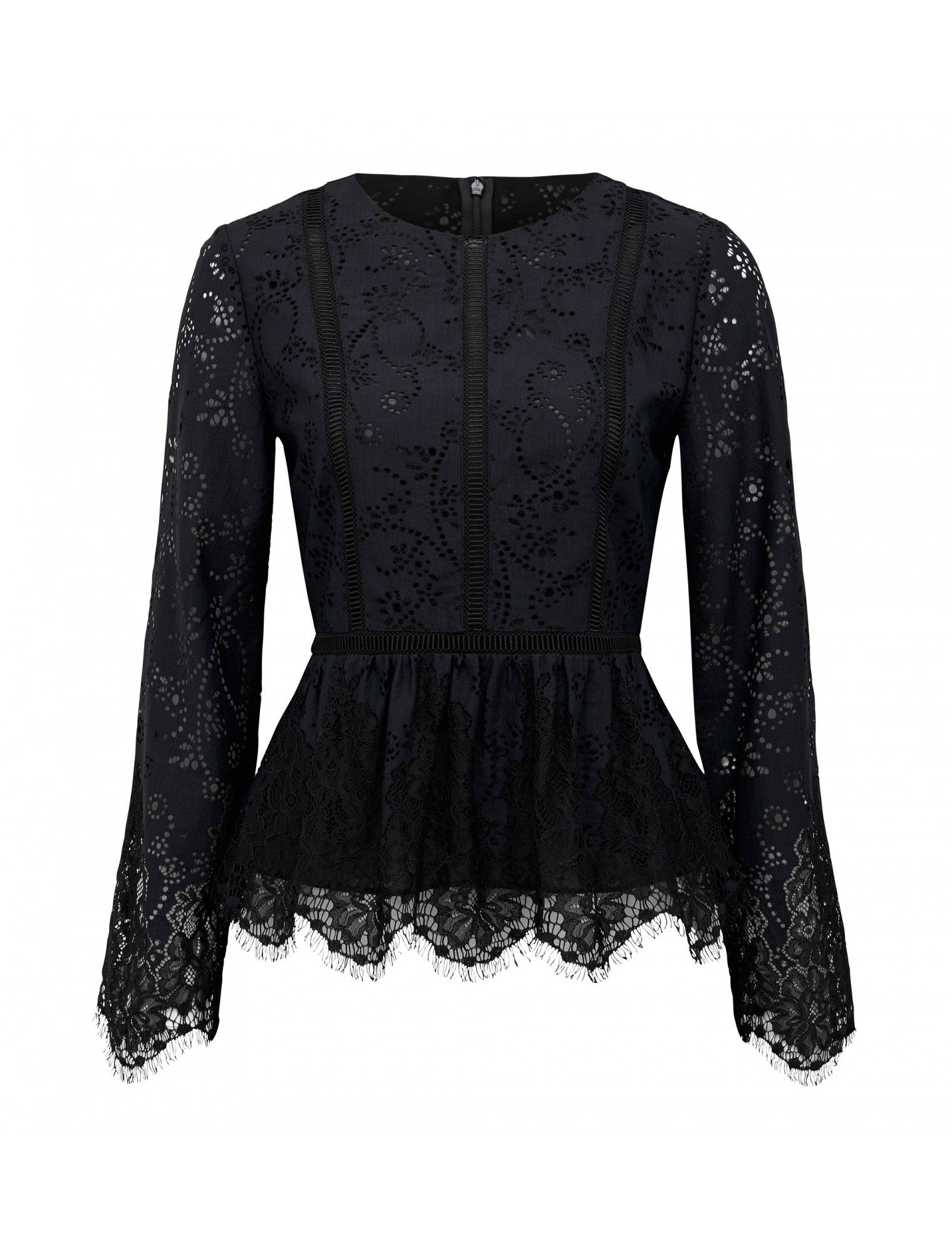 Valentina lace splice top forever new shopping clothing