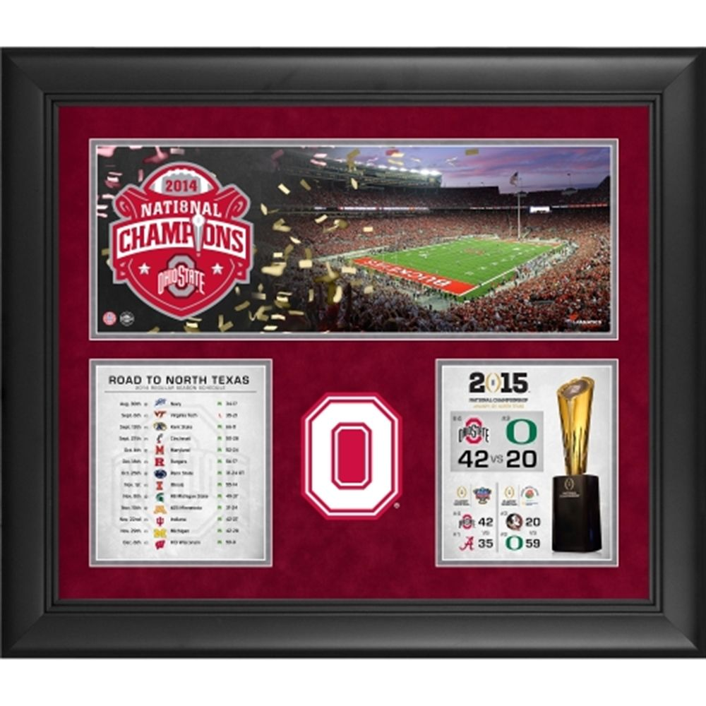 """Ohio State Buckeyes 2014 College Football Playoff National Champions Framed 20"""" x 24"""" Collage"""