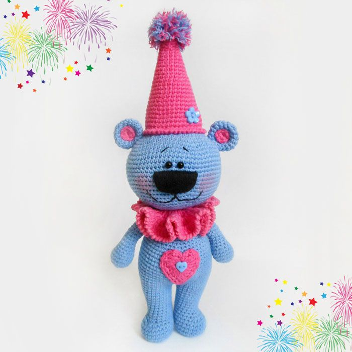 To create a festive bear amigurumi you\'ll need some cotton yarn and ...