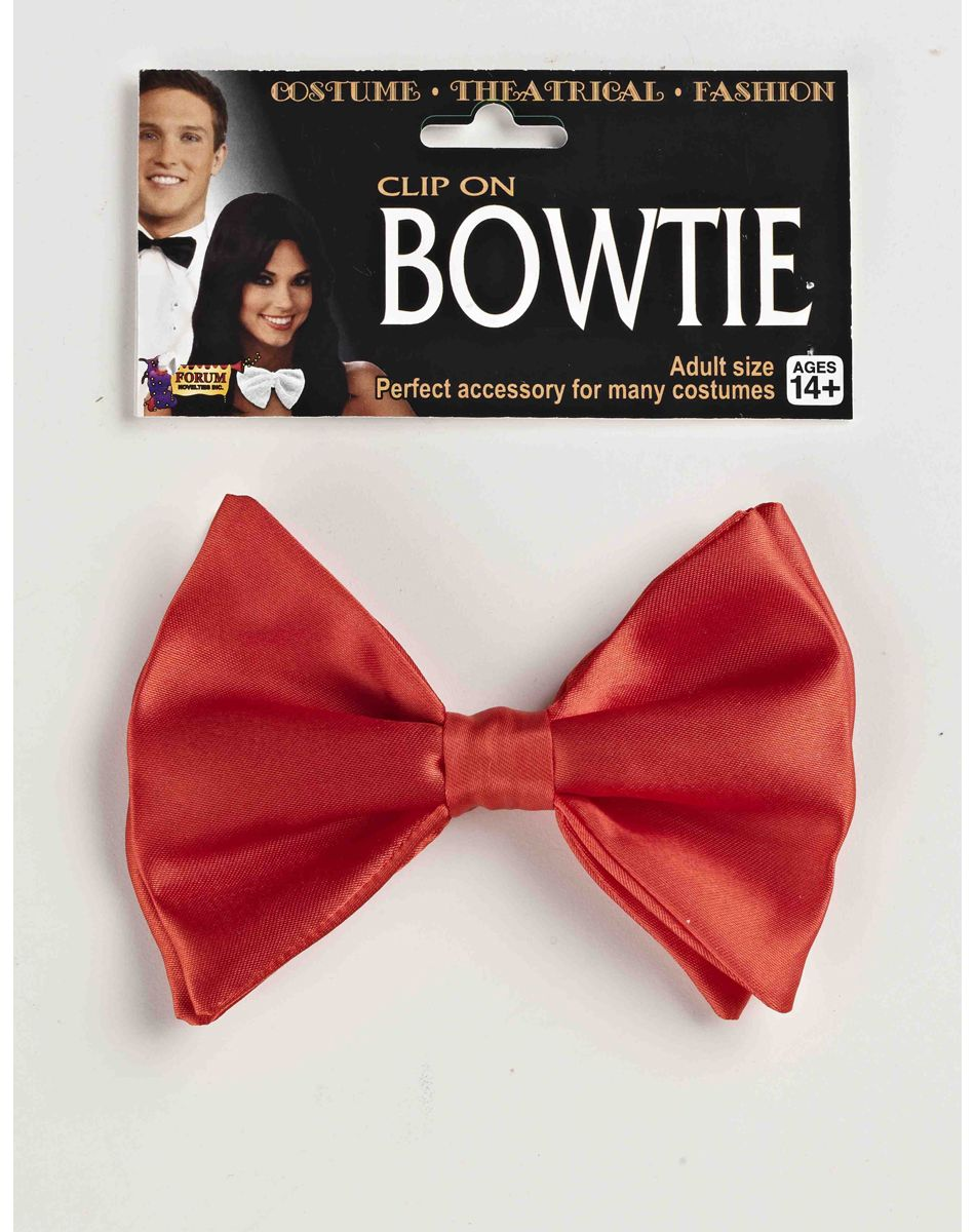 Shiny Red Bow Tie
