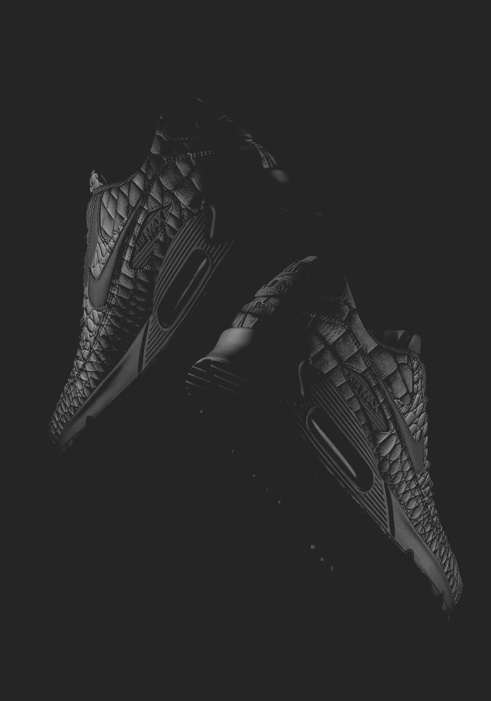 Nike Air Max 90 ID 'Leather Croc' 黑魂 Buy it @nike.com