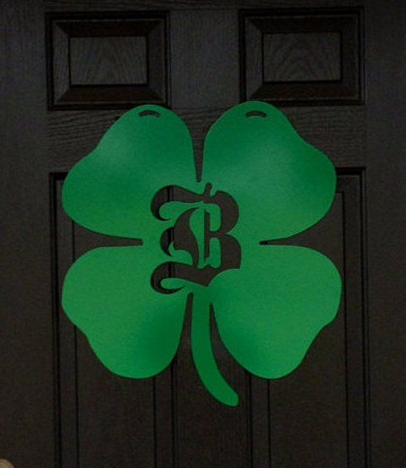 Shamrock Monogram Door Hanger, St. Patrick's Day Front door Wreath, Double Door Wreath, metal initial door monogram, initial wreath #doubledoorwreaths Shamrock Monogram Door Hanger, St. Patricks Day Front door Wreath, Double Door Wreath, metal initial door monogram, initial wreath, Oval Metal Monogram Door Hanger,Monogrammed Wreaths, Initial door hanger, Front Door Monogram, Double Door Wreaths, Front Door Letter, Personalized Gifts DETAILS • #doubledoorwreaths