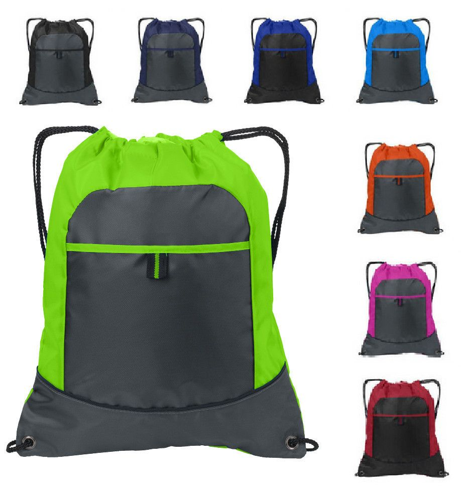 Cheap Drawstring Bags /Two Tone Pocket Cinch Pack | Shopping, Due ...