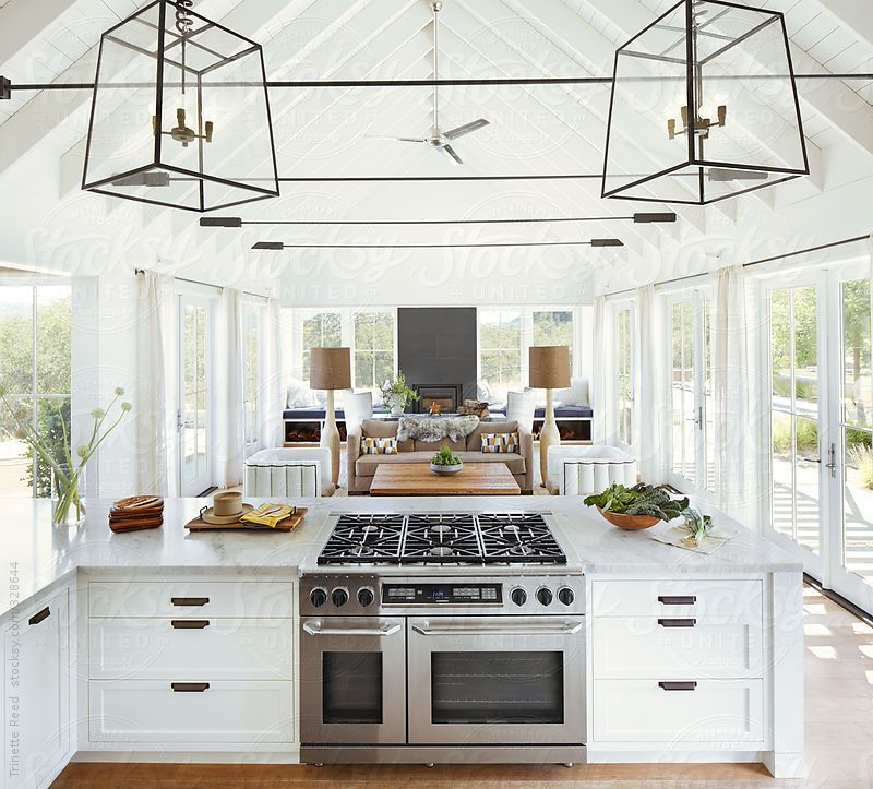 Dreaming Of An Open Plan Kitchen: Open Plan Kitchen And Living Room Inside Modern Home By