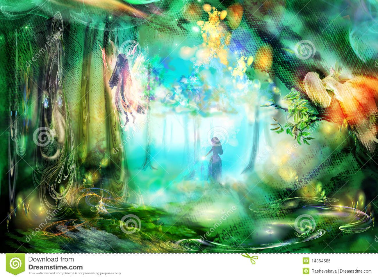 The Magic Forest With Fairies - Download From Over 28 Million High Quality Stock Photos, Images, Vectors. Sign up for FREE today. Image: 14864585