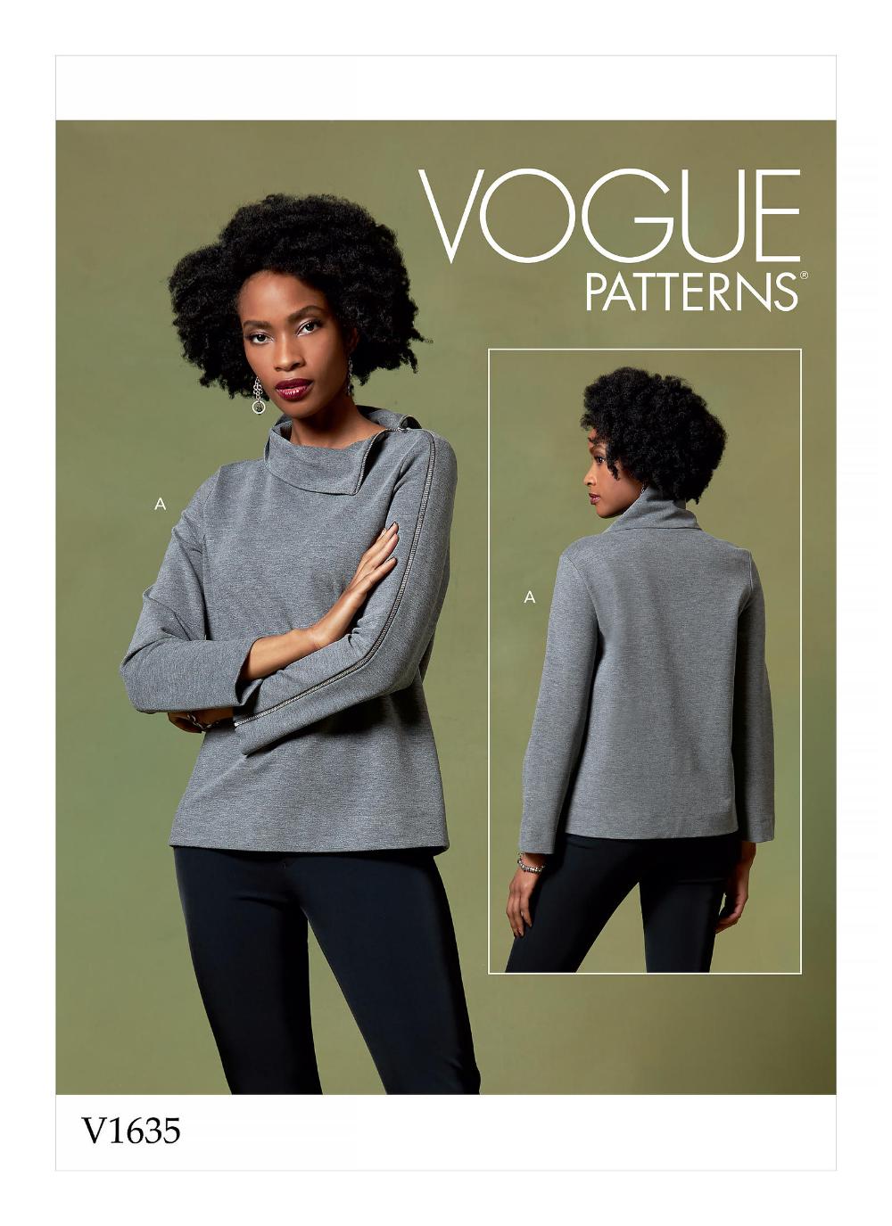 V1635 Misses Top Sewing Pattern Vogue Patterns Voguepatterns