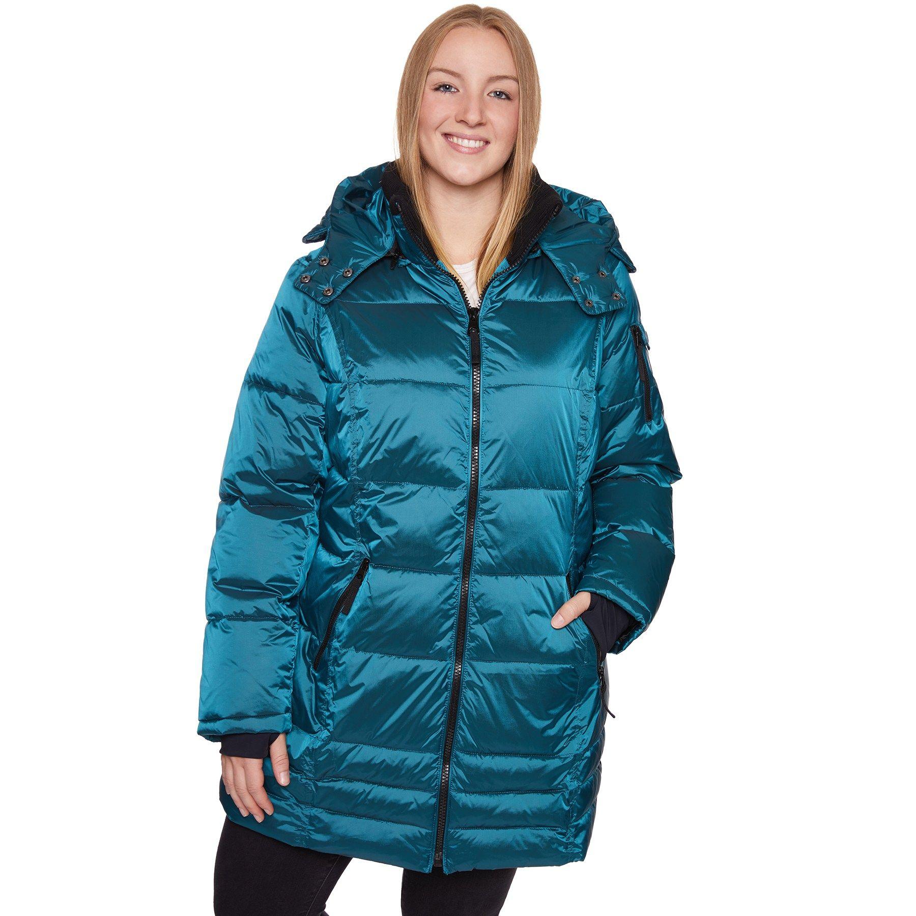 Plus Size Halitech Hooded Iridescent Puffer Jacket Hooded Halitech Size Jacket Jackets Puffer Jackets Plus Size [ 1800 x 1800 Pixel ]