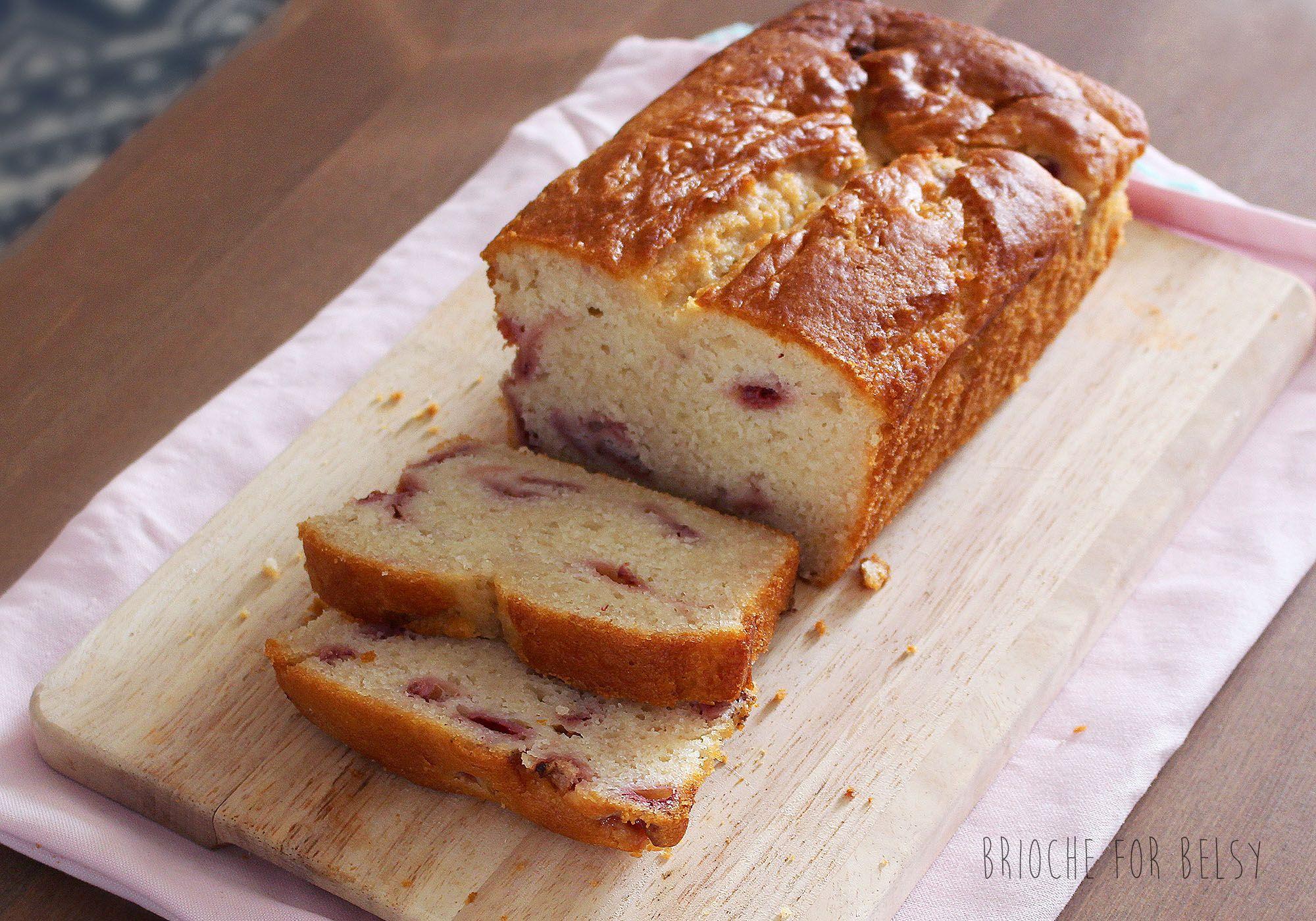 Gluten-free strawberry loaf cake! <3