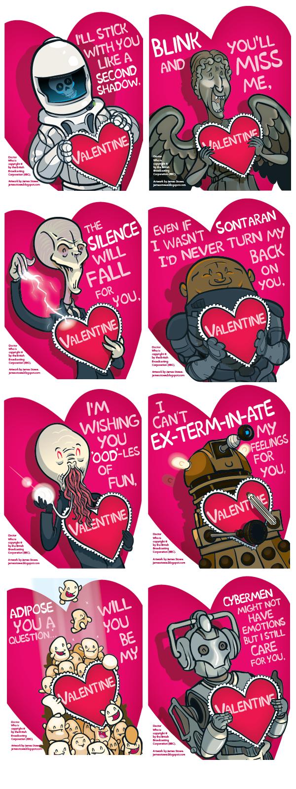 Doctor Who TARDIS inspired Valentine/'s Day Valentine Hollidays card